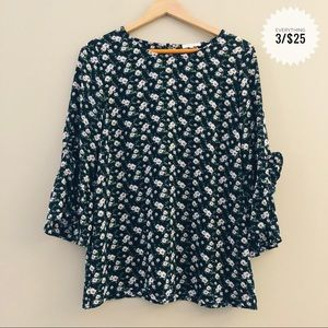 Women's PLEIONE blouse flower patterned top